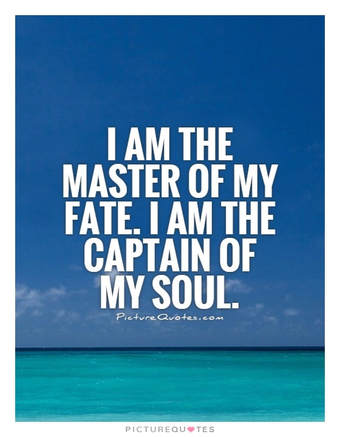 I Am The Master Of My Fate Quote Inspirational Motivation Determination Poster